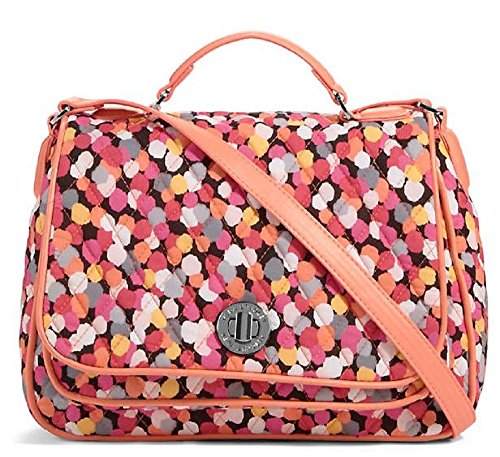 Amazing Vera Bradley Colorful Turnlock Crossbody Bag in Pixie Confetti