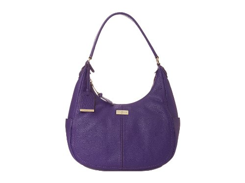 Cole Haan Womens Village Small Rounded Hobo, Purple Reign