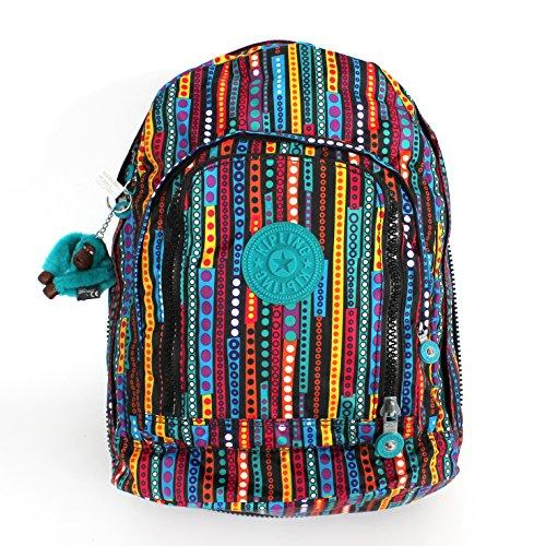 Kipling Hiker Large Expandable Backpack Circle Stripe