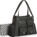 Baby Boom Fashion Tall Tote Diaper Bag, Black