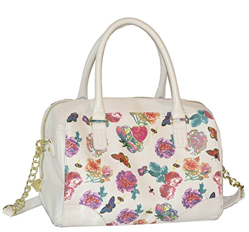 Betsey Johnson Wrap Satchel Shoulder Bag, Floral