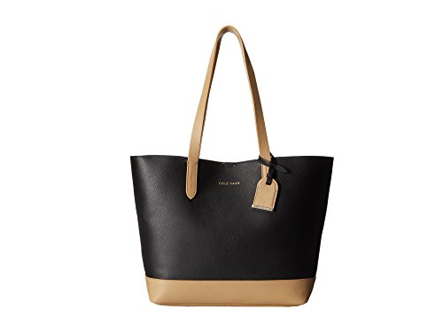 Cole Haan Palermo Small Tote Shoulder Bag, Black/Tan, One Size