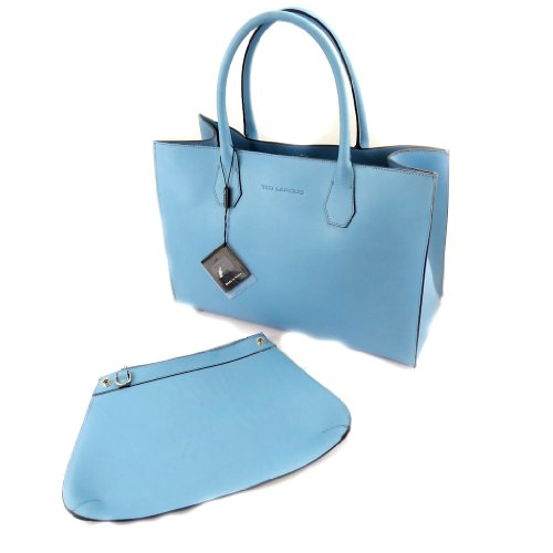 Leather bag 'Ted Lapidus'sky blue.