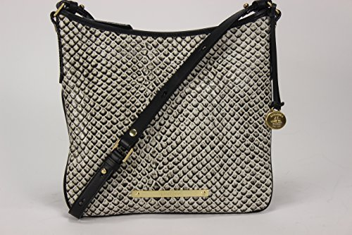 Brahmin Jody Embossed Leather Shoulder / Cross-body Bag (Black Java)