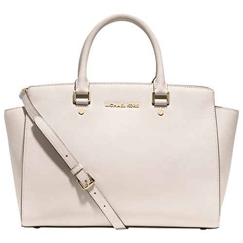MICHAEL Kors Large East West Selma Satchel in Vanilla