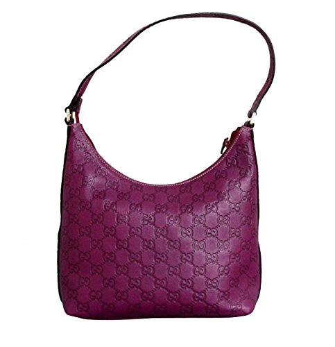 Gucci Guccissima Purple Hobo Leather Shoulder Bag 257282