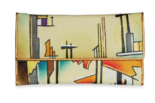Zimbelmann – Womens Purse – made of genuine Nappa Leather – multicoloured handpainted – Mia