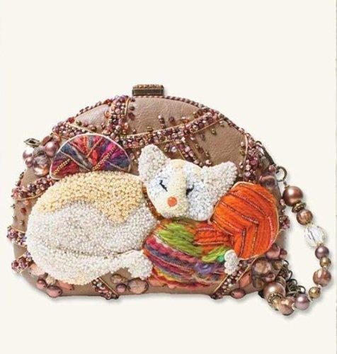 Mary Frances Bag Cat Nap Rare Extensively Beaded Purse Handbag Shoulder Bag