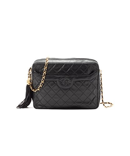 Women's Authentic Chanel Quilted Shoulder Bag with Tassel