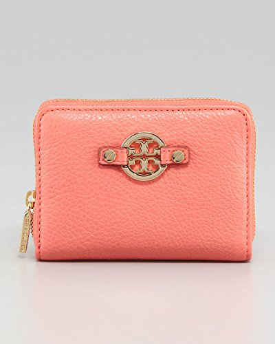 Tory Burch Amanda Zip Coin Case Cantaloupe Pink Wallet