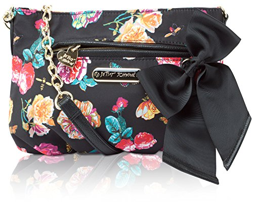 Betsey Johnson Neverland Floral Rouched Crossbody Bag