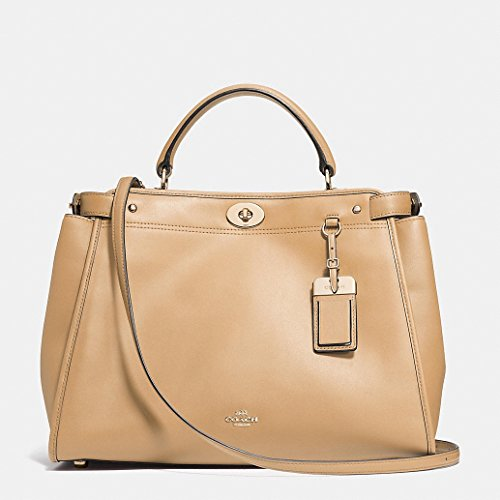 Coach Gramercy Leather Satchel in Nude / Light Gold 33549