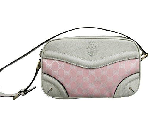 Gucci Canvas Pink Leather Shoulder Bag 262900 5775