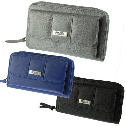 Kenneth Cole Reaction Women's Urban Organizer Clutch Wallet In Saffiano Material