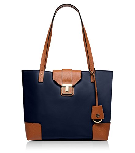 Tory Burch Penn Mini Tote – TORY NAVY/LUGGAGE