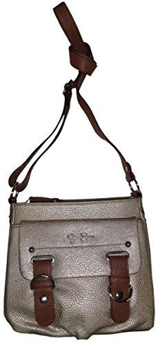 Jessica Simpson Purse Handbag Sheila Crossbody Champagne/Whiskey