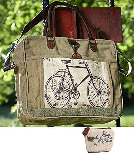 Mona B Upcycled Canvas Crossbody Bag M-1575 with Coin Purse