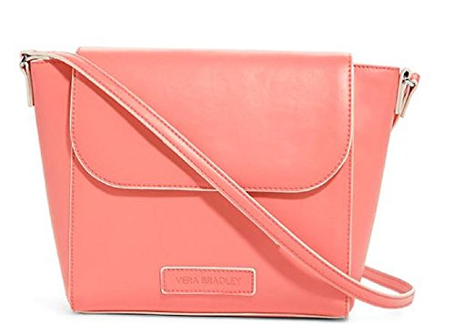 Gorgeous Vera Bradley Flap Crossbody Handbag in Coral Faux Leather Collection