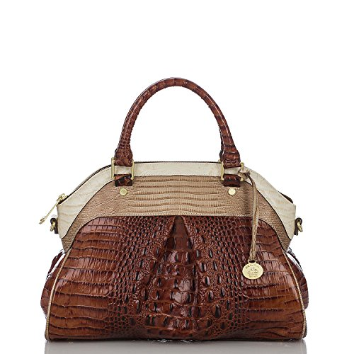 Brahmin Tri-texture Collection Louise Rose Croco Embossed Satchel