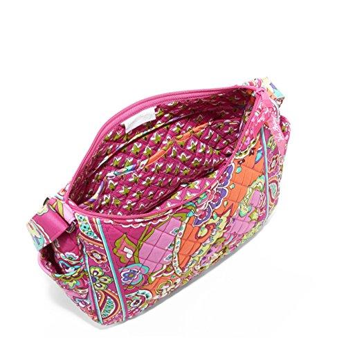 Vera Bradley On the Go Shoulder Hobo Style Handbag in Pink Swirls