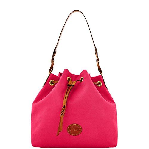 Dooney & Bourke Nylon Drawstring Satchel Bag IN434 HP Hot Pink