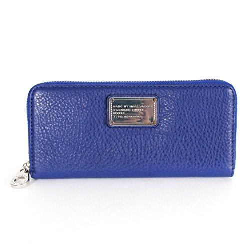 Marc By Marc Jacobs Slim ZIP Around Wallet M0005084 Scuba Blue
