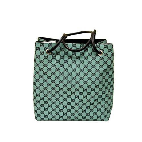 Gucci Canvas Green Gifford Tote Handbag Shoulder Bag 257275