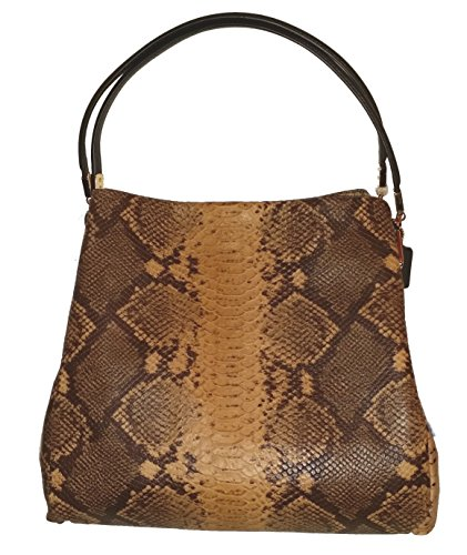 Coach Phoebe Snake Natural Exotic Leather Shoulder Bag 35209