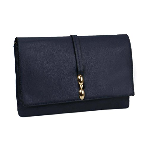 BMC Womens Fashionable Faux Leather Large Envelope Style Statement Clutch