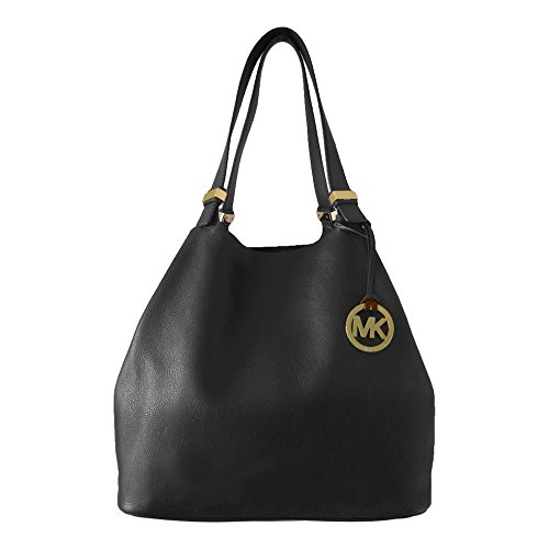 Michael Kors Colgate Large Grab Bag in Reversible Black Leather and Suede