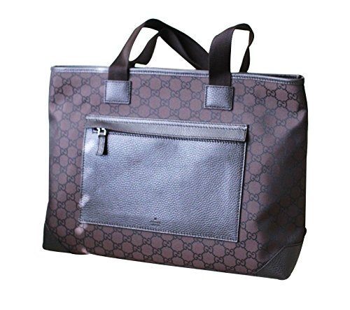 Gucci Brown Nylon Tote Shoulder BAG Handbag