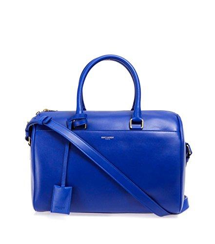 Saint Laurent Classic Duffle 6 Bag in Bright Blue Calfskin Leather