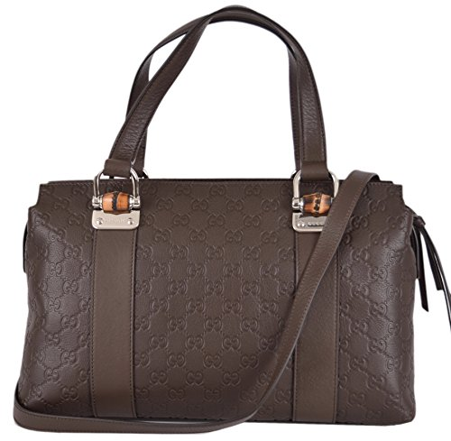 Gucci Women's Leather GG Guccissima Convertible 2-Way Satchel