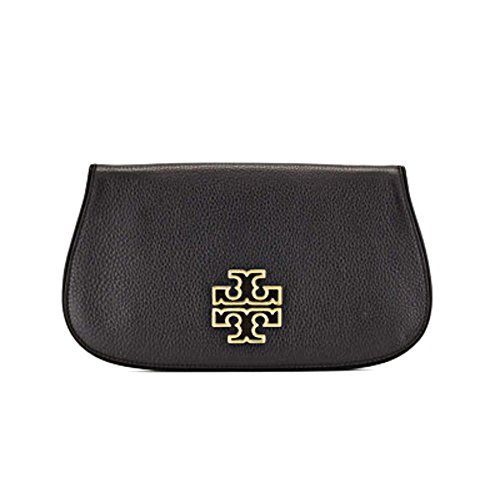 Tory Burch Britten Womens Black Wallet Leather Clutch