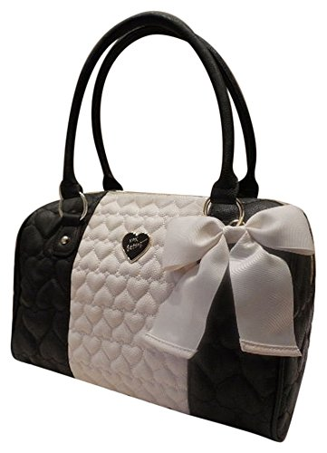 Betsey Johnson Be Mine Quilted Satchel Black