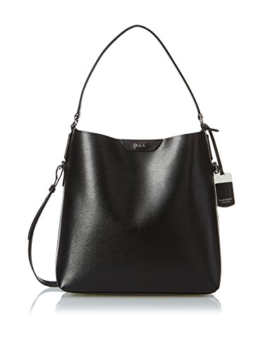Lauren Ralph Lauren Black Leather Tate Hobo Bag Purse Tote