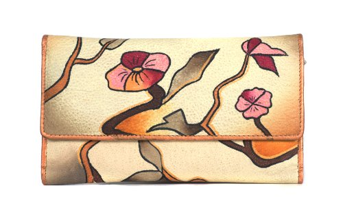 Zimbelmann – Womens Purse – made of genuine Nappa Leather – multicoloured handpainted – Helene