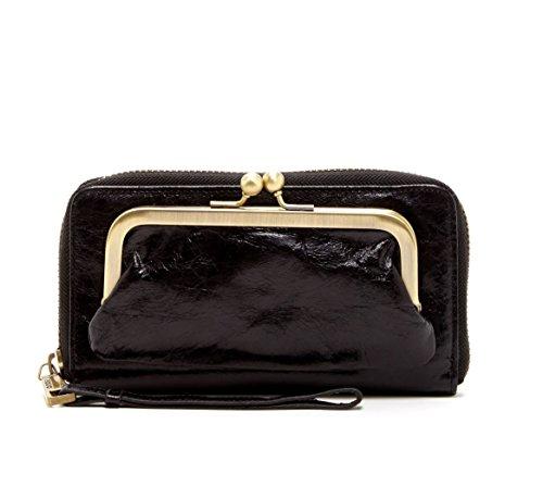 Hobo International Eda Wristlet Wallet in Black