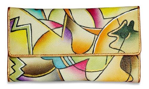 Zimbelmann – Womens Purse – made of genuine Nappa Leather – multicoloured handpainted – Pia