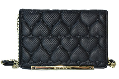 Betsey Johnson Purse Cross Body Bag Hearts Wallet on a String Handbag
