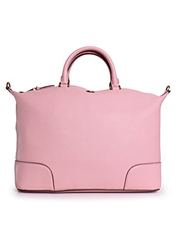 Tory Burch Frances Slouchy Leather Satchel in Rose Sachet