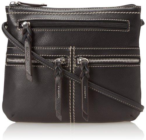 Tignanello Triple Zip Cross Body Bag,black,one Size