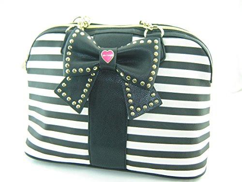 Betsey Johnson Hopeless Romantic Dome Satchel Candy Stripe Multi