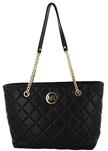 Michael Kors Fulton Quilted Leather Shoulder Handbag Purse