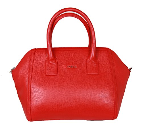 Furla Alice Leather Satchel Handbag With Removable Cross-body belt Red