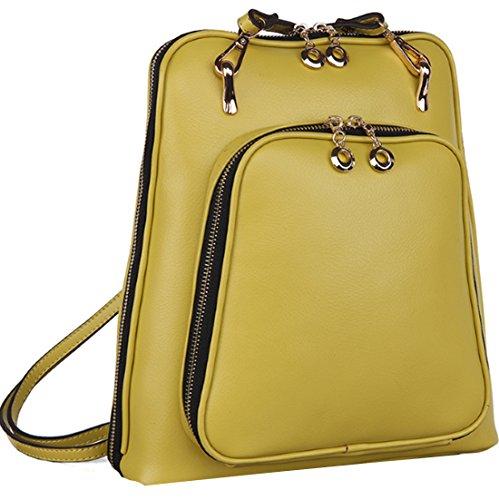 Heshe 2015 New Fashion Genuine Leather Ladies Backpack Handbag Shoulder Sling Tote Messager Bag