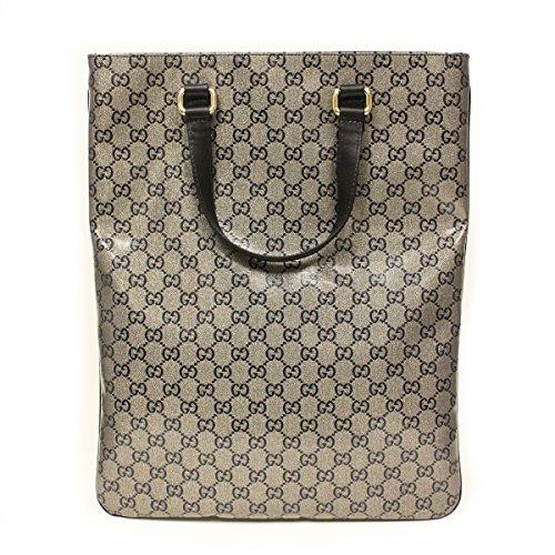 GUCCI 272347 Gucci GG Logo Metallic Crystal Portfolio Tote Bag