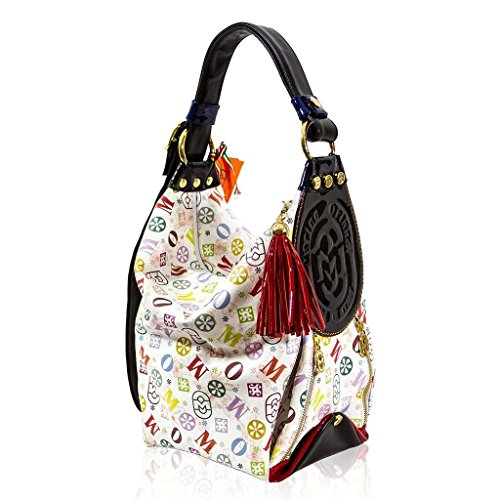 Marino Orlandi Italian Designer Monogram Leather Bucket Sling Purse Bag