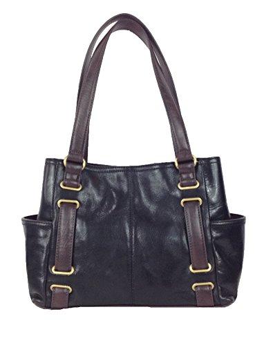 Tignanello 'Vingage Classics' Leather Shopper Tote Bag, Black/Brown