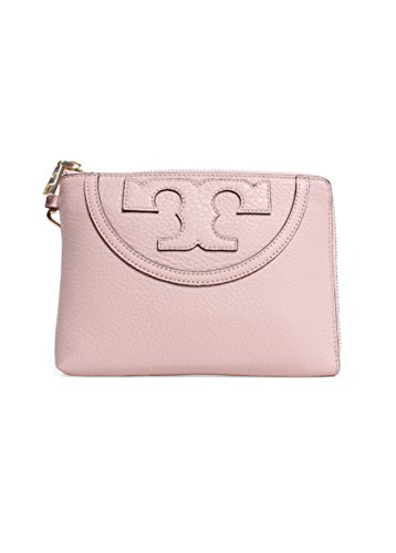 Tory Burch All T Large Wristlet in Light Oak